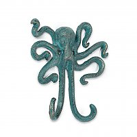 Verdigris Octopus Cast Iron Wall Hook