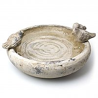 Three Little Birds - Terracotta Feeder or Bowl