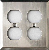 Solid Brass Switchplates- Satin Nickel