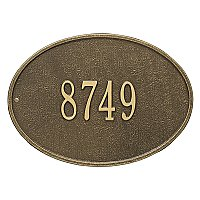 Hawthorne Oval Standard Size Wall Mount Address Plaque - One Line