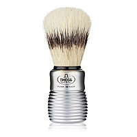 Omega of Italy Boar Bristle Shave Brush with Aluminum Handle