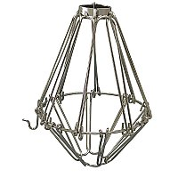 Industrial Light Bulb Cage - Open/Close Style - Polished Nickel
