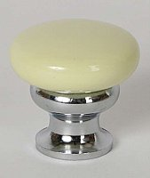 Metal Cabinet Knob - Buttercup Yellow & Polished Chrome