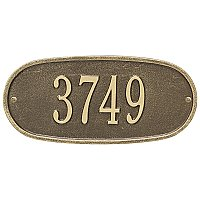 Oval Standard Size Wall Mount Address Plaque - One Line