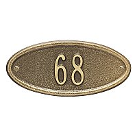 Madison Oval Petite Size Wall Mount Address Plaque - One Line