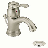 Moen Kingsley Monoblock Lav Faucet - Brushed Nickel