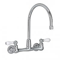 American Standard Amarilis Heritage Gooseneck Wall Mount Kitchen Faucet in Chrome
