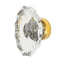 "Nostalgic Warehouse Chateau Crystal 1-3/4"" Cabinet Knob in Polished Brass"