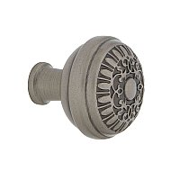 "Nostalgic Warehouse Egg And Dart Brass 1-3/8"" Cabinet Knob in Antique Pewter"