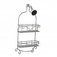 Scroll Design Shower Head Caddy - Satin Nickel