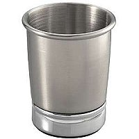 York Metal Bathroom Cup or Tumbler - Brushed Stainless