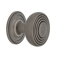 "Nostalgic Warehouse Deco Brass 1-3/8"" Cabinet Knob with Classic Rose in Antique Pewter"