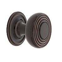 "Nostalgic Warehouse Deco Brass 1-3/8"" Cabinet Knob with Classic Rose in Timeless Bronze"