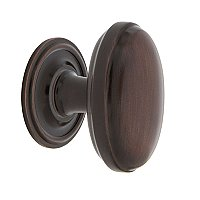 "Nostalgic Warehouse Homestead Brass 1-3/4"" Cabinet Knob with Classic Rose in Timeless Bronze"