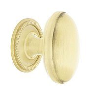 "Nostalgic Warehouse Homestead Brass 1-3/4"" Cabinet Knob with Rope Rose in Satin Brass"