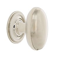 "Nostalgic Warehouse Homestead Brass 1-3/4"" Cabinet Knob with Rope Rose in Polished Nickel"