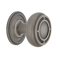 "Nostalgic Warehouse Mission Brass 1-3/8"" Cabinet Knob with Classic Rose in Antique Pewter"