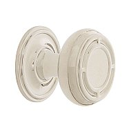 "Nostalgic Warehouse Mission Brass 1-3/8"" Cabinet Knob with Classic Rose in Polished Nickel"