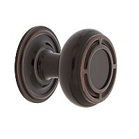 "Nostalgic Warehouse Mission Brass 1-3/8"" Cabinet Knob with Classic Rose in Timeless Bronze"