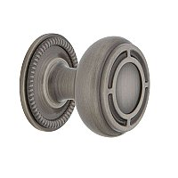 "Nostalgic Warehouse Mission Brass 1-3/8"" Cabinet Knob with Rope Rose in Antique Pewter"
