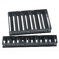"2-1/4"" x 10"" Louver Assembly, Black Painted"