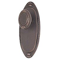 Beaded Egg Knob and Oval Beaded Plate, Complete Doorknob Set