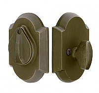 Deadbolt: Sandcast Bronze with Keyhole Cover Flap
