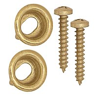 Window Stop Adjusters - Sold Per Pair - Solid Brass Unlacquered