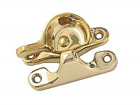 Window Sash Lock, Small, Polished Brass
