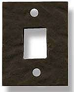 Rustic Bronze Strike Plate, Mortise Style