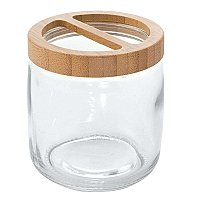 Kane Bamboo and Glass Countertop Toothbrush Holder