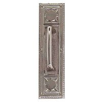 Nantucket Series Backplate With Mission Door Pull - Multiple Handle Options and Multiple Finishes