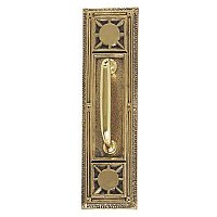 Nantucket Series Backplate With Colonial Revival Pull - Multiple Handle Options and Multiple Finishes