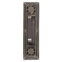 Nantucket Series Backplate With Traditional Door Pull - Multiple Handle Options and Multiple Finishes