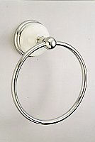 "Victorian Towel Ring 6"" - Polished Chrome"