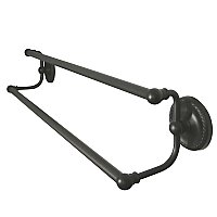 "Laurel Collection 24"" Double Towel Bar - Oil Rubbed Bronze"