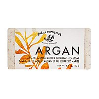 Pre de Provence Argan and Shea Butter Exfoliating Soap - Fair Trade Product - Sweet Orange