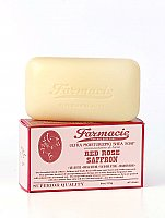 Farmacie 6 oz Bar Soap - Red Rose Saffron