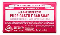 Dr. Bronner's Hemp & Rose Pure Castile Bar Soap