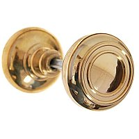 Elegant Doorknob Pair with Spindle - Multiple Finishes Available