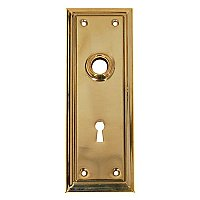 Solid Brass Door Plate with Keyhole - Multiple Finishes