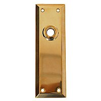 Solid Brass Door Plate - No Keyhole - Multiple Finishes