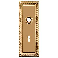 Egg & Dart Door Plate with Keyhole, Multiple Finishes