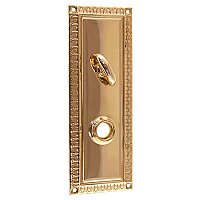 Egg & Dart Doorplate with Thumbturn - Multiple Finishes