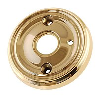 "Door Rosette, 2-3/4"" diameter, with Privacy Button Hole - Multiple Finishes"