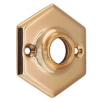 Hexagonal Doorknob Rosette, 4 Finishes Available