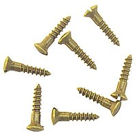 Oval Head Slotted Brass Wood Screws #5 x 5/8""