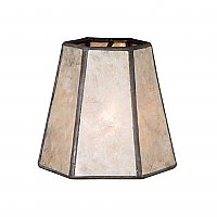 Natural Mica Mini Hexagon Chandelier Shade