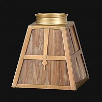 Mission Style Stained Glass Shade -Dark Caramel