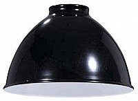 Industrial Style Metal Dome Shade -Black -7-1/16""